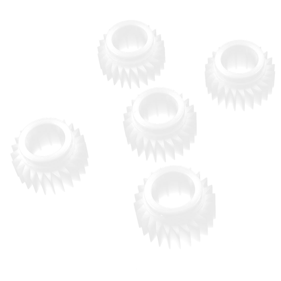 5 Pcs Plastic White 24 Teeth Clutch Ratchet Wheel for Washing Machine