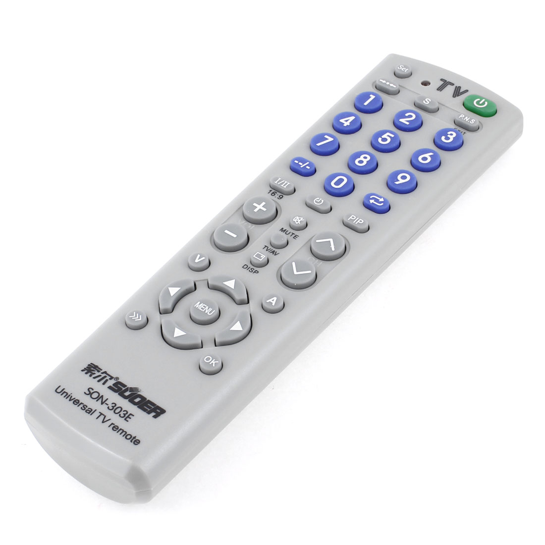 Gray TV Television Control Remote Controller Spare Part