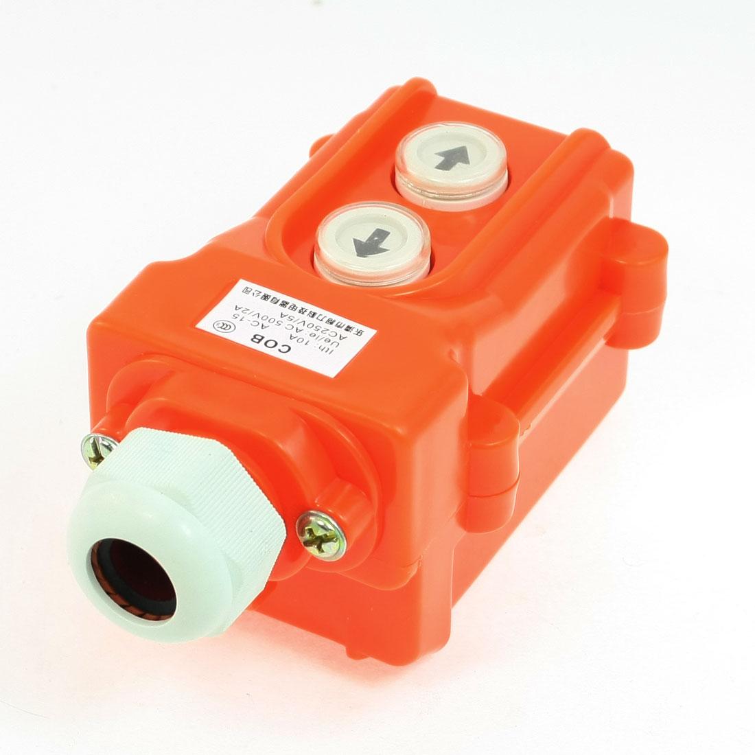 Hoist Crane Push Button Switch Up Down 2 Ways AC 250V 5A 500V 2A