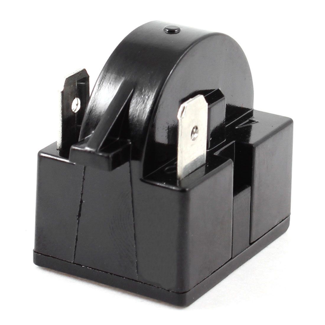 Black Plastic Housing 15 Ohm 2 Terminals Refrigerator PTC Starter Relay