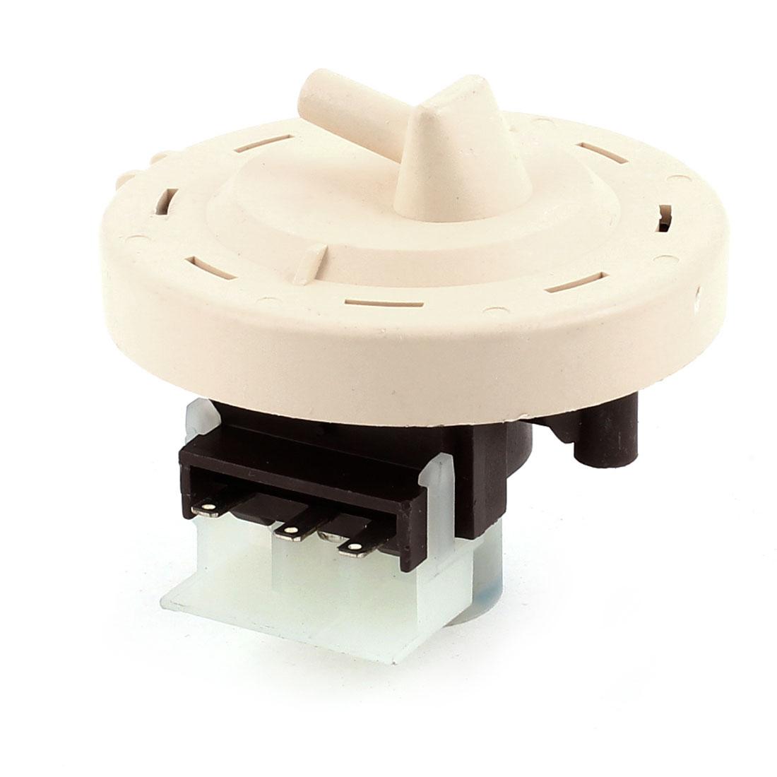 58mm Diameter 3 Terminals Water Level Switch Beige for Washing Machine