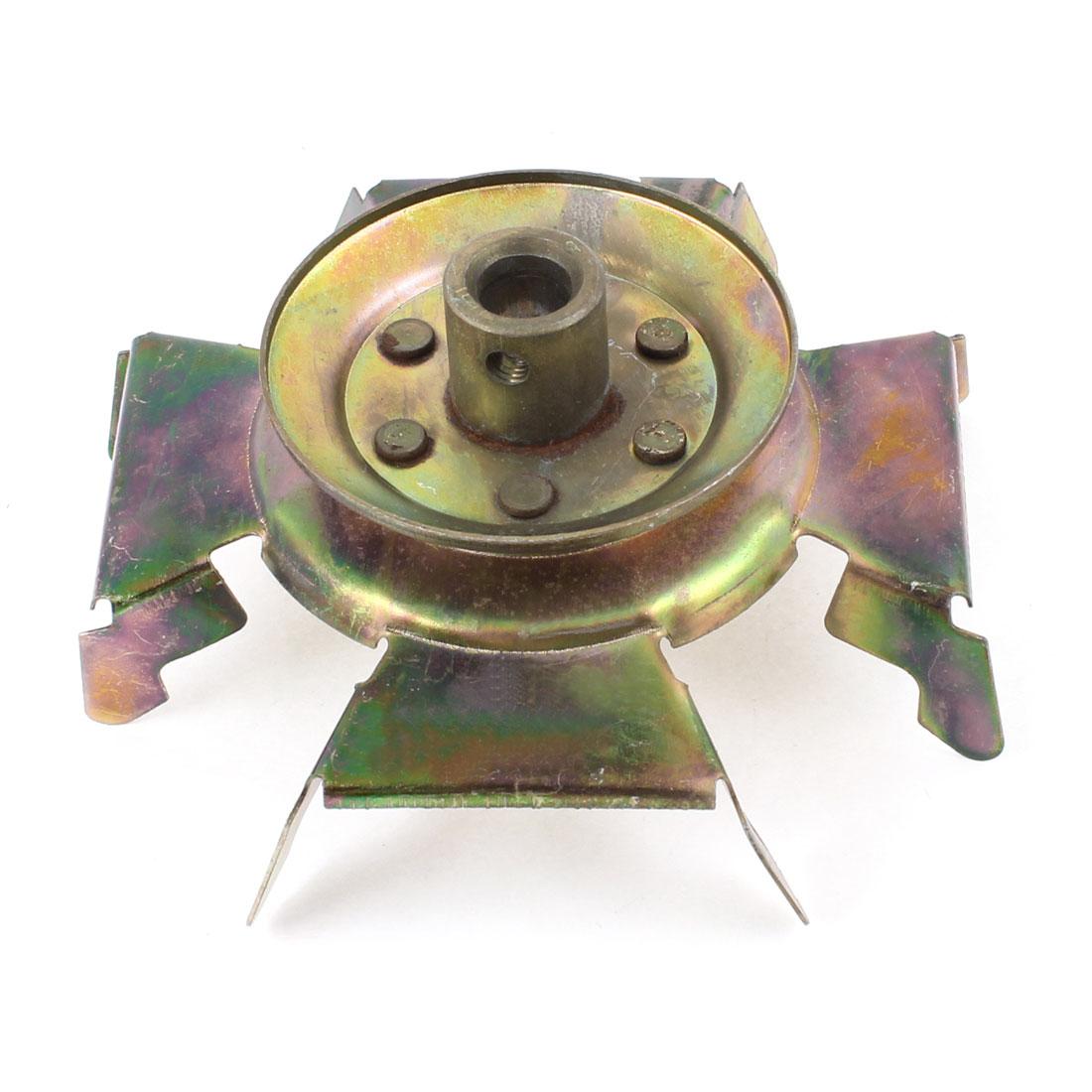 12mm Bore Diameter Bronze Tone Metal Washer Fan Wheel