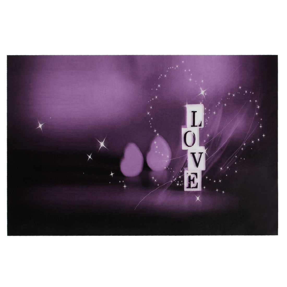 "Dark Purple Love Word Pattern Decorative Sticker Decal for 14"" Laptop PC"