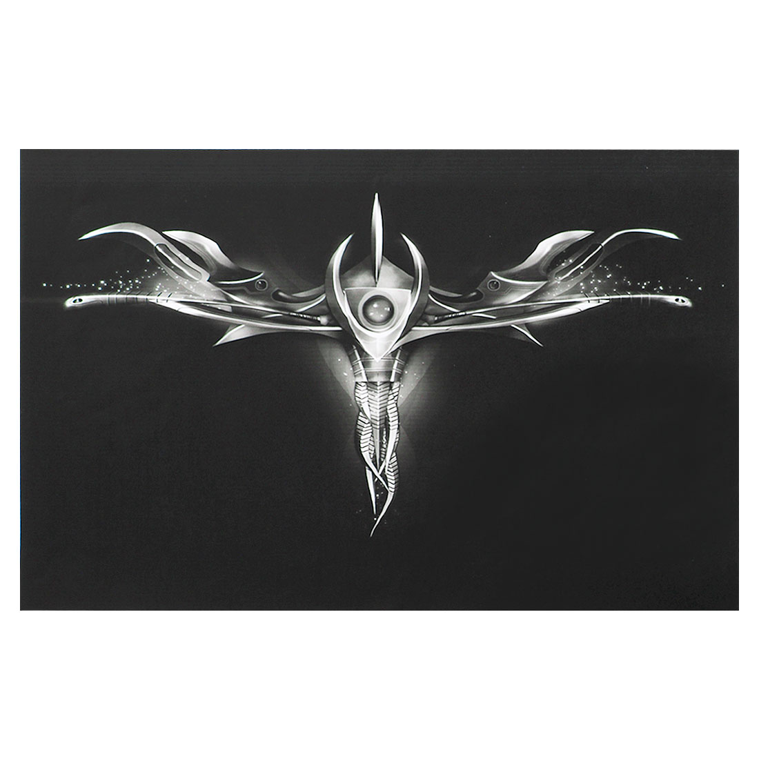 "Dark Gray Fantasy Weapon Black Decorative Sticker Decal for 14"" Laptop PC"