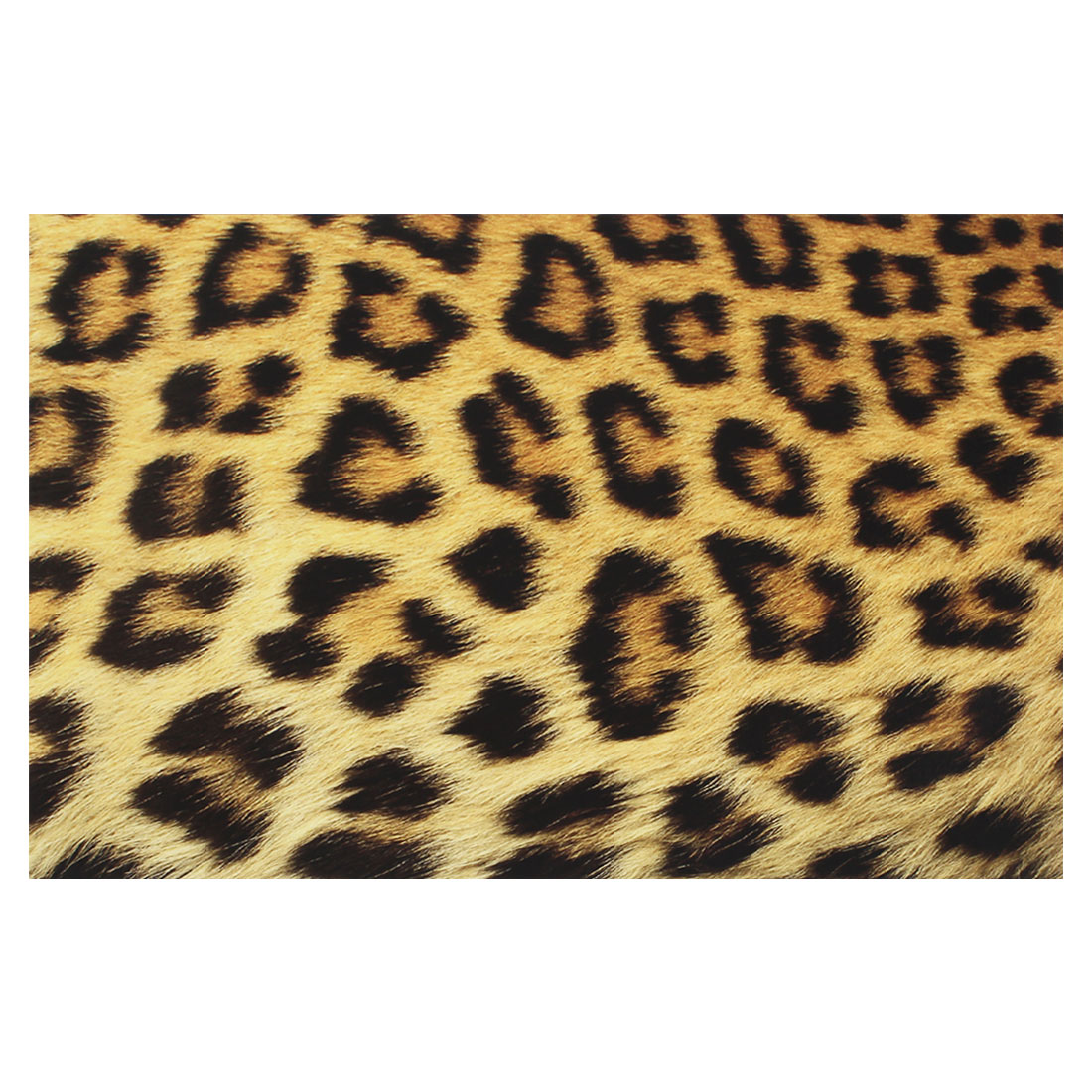 "Black Yellow Leopard Pattern Decorative Sticker Decal for 14"" Laptop PC"