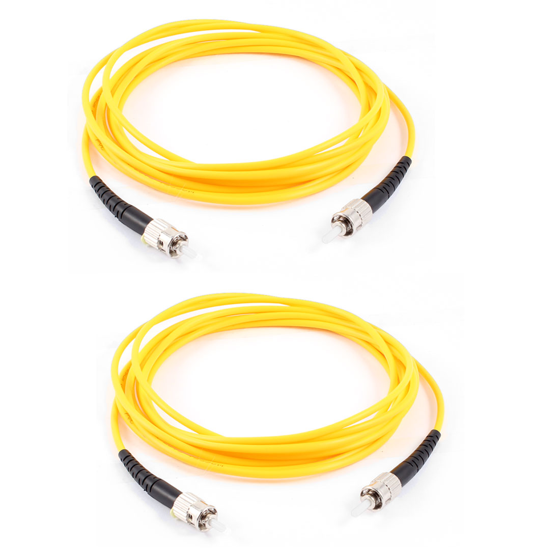 2 Pcs Simplex Single Mode ST to ST Fiber Optic Patch Jump Cable Cord 3 Meters