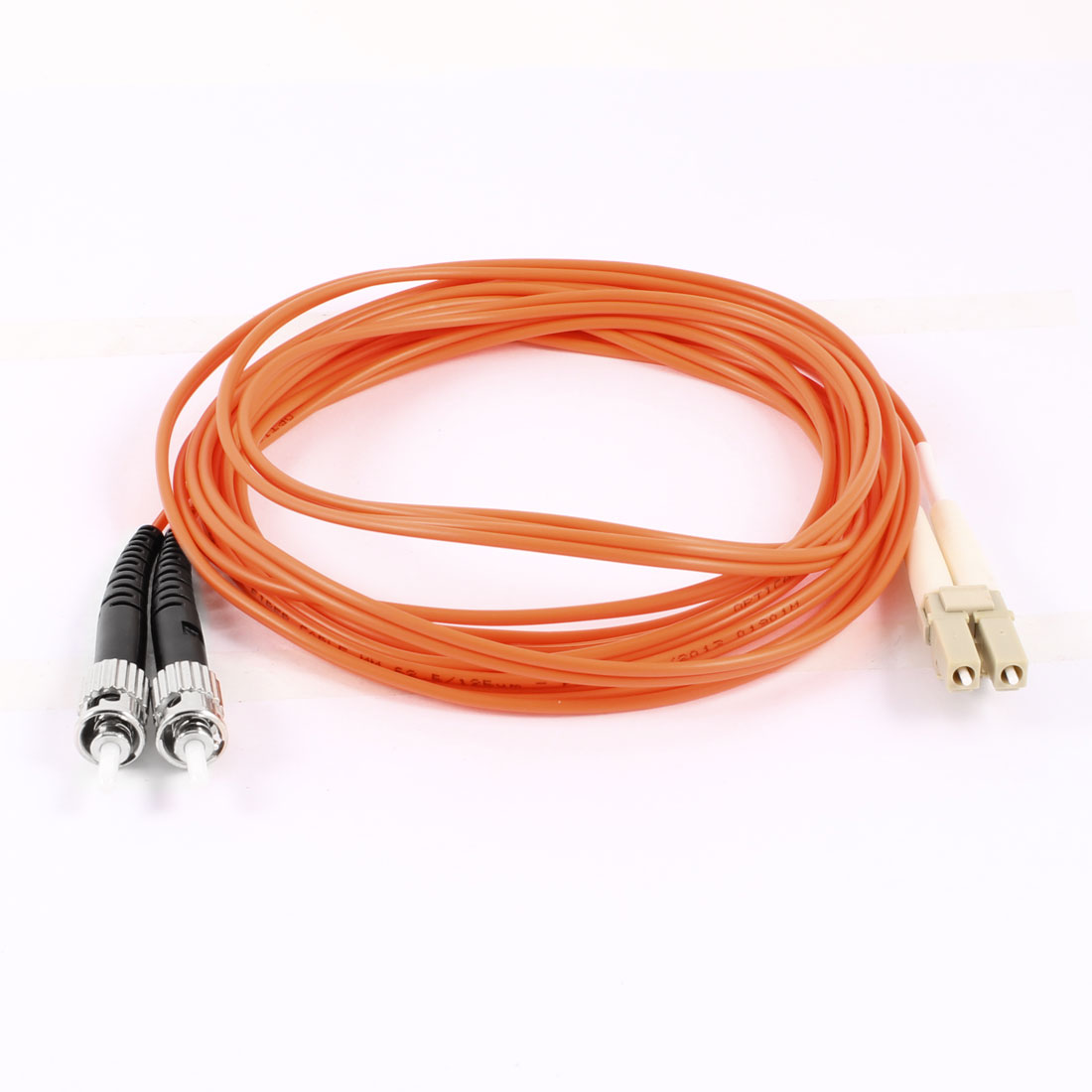 Duplex Multimode 62.5/125 LC/ST Optical Fiber Patch Jump Cable Orange 3 Meters