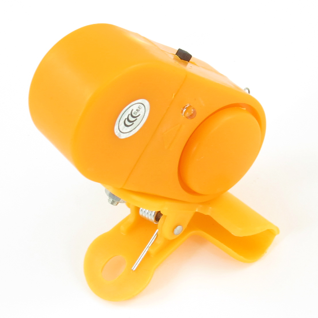 Portable LED Light Plastic Casing Angling Fishing Alarm w Clip Orange