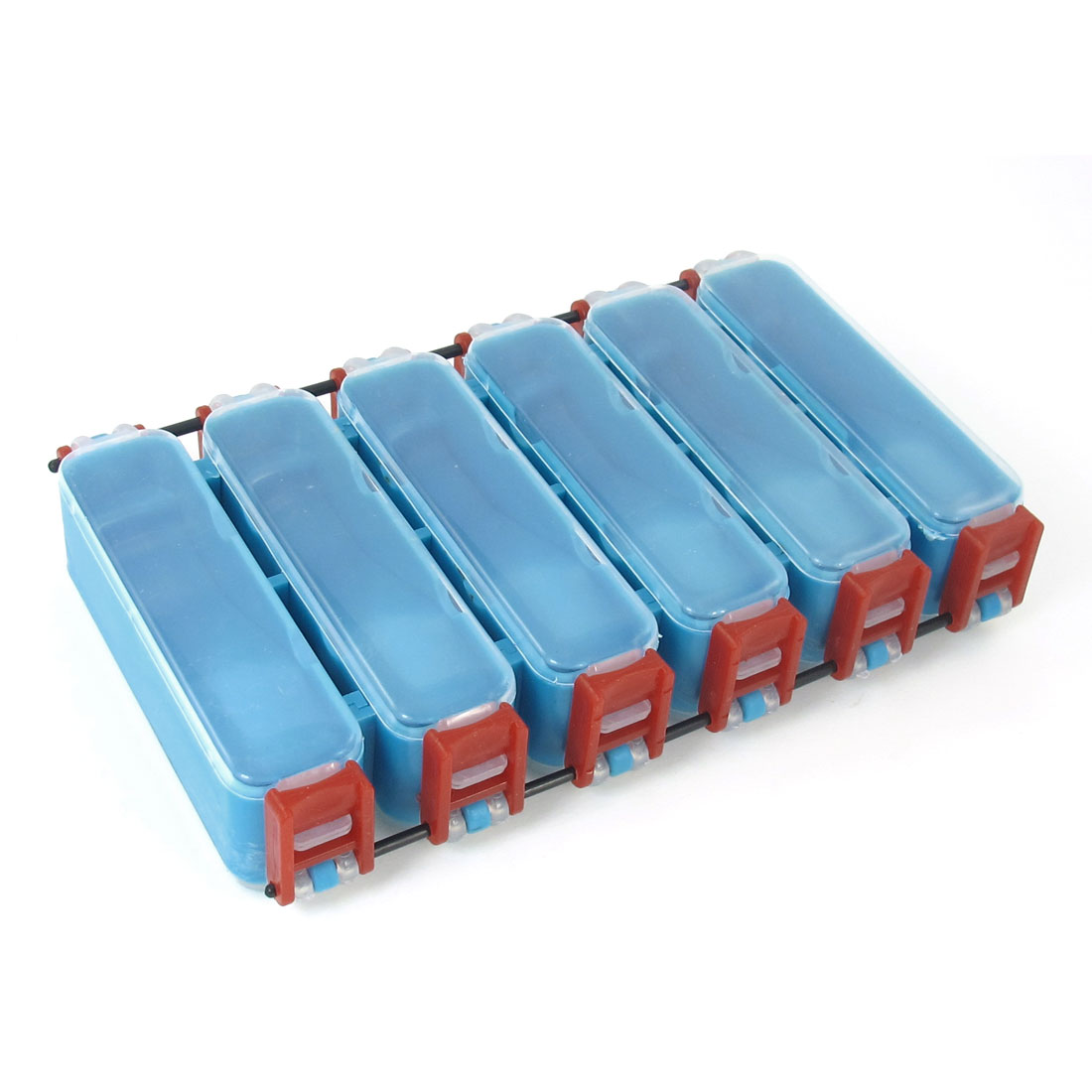 Fishing Angling Double Sides 12 Rectangular Slots Lure Bait Case Organizer