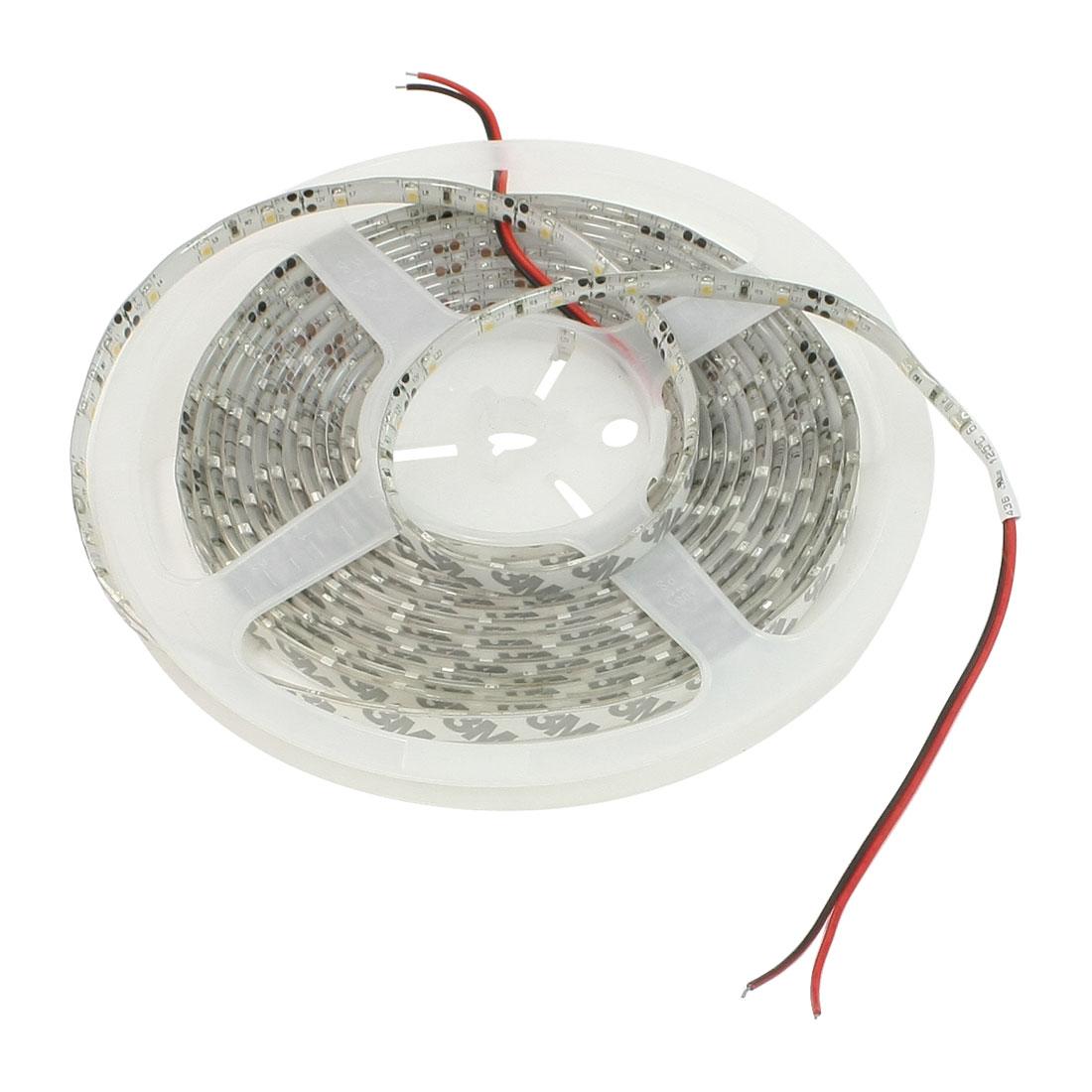 Warm White Light DC 12V 3528 SMD 300 LED Bulb 5M Flexible Strip Lamp