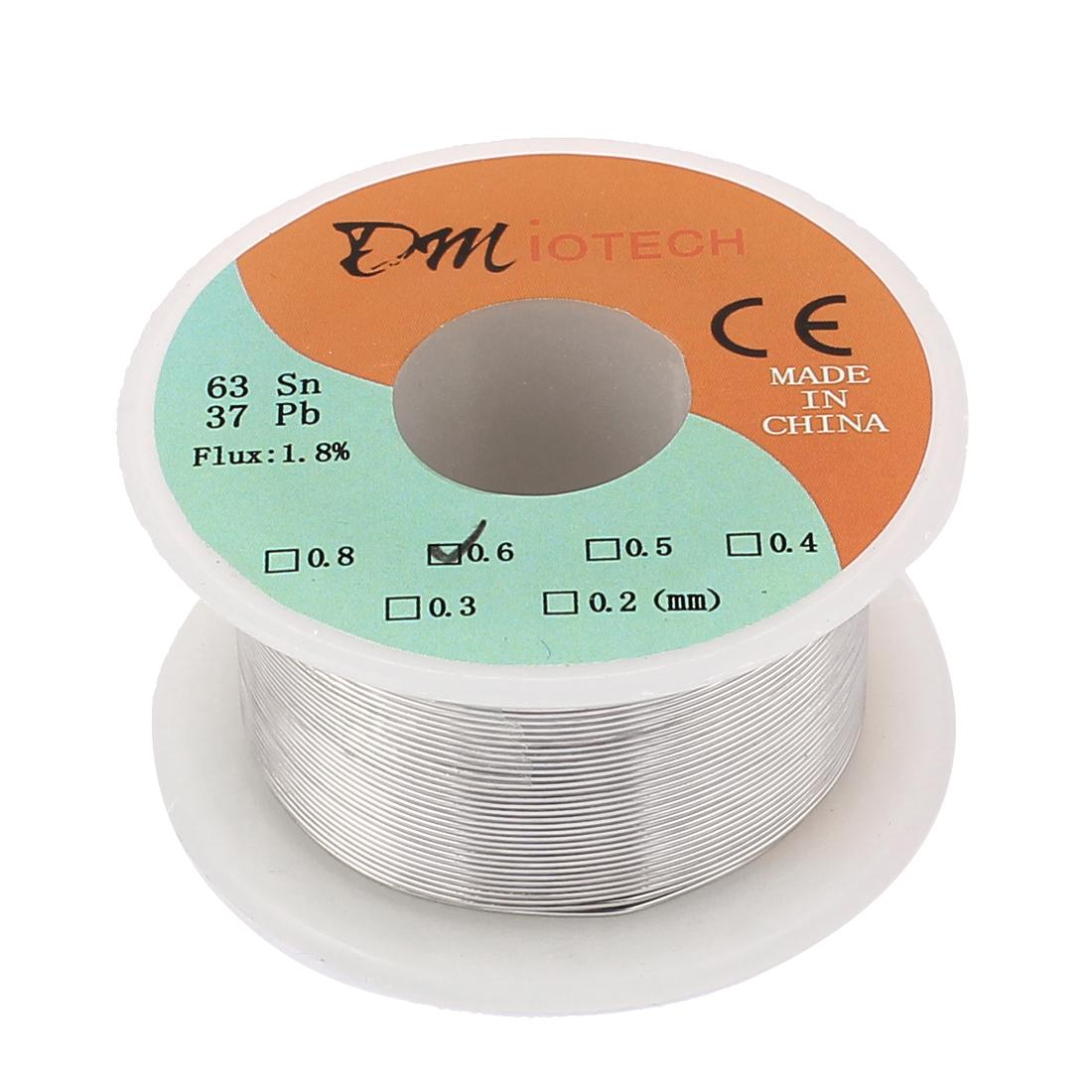 DMiotech 0.6mm 50G 63/37 Tin Lead Roll Solder Core Flux Soldering Wire Reel