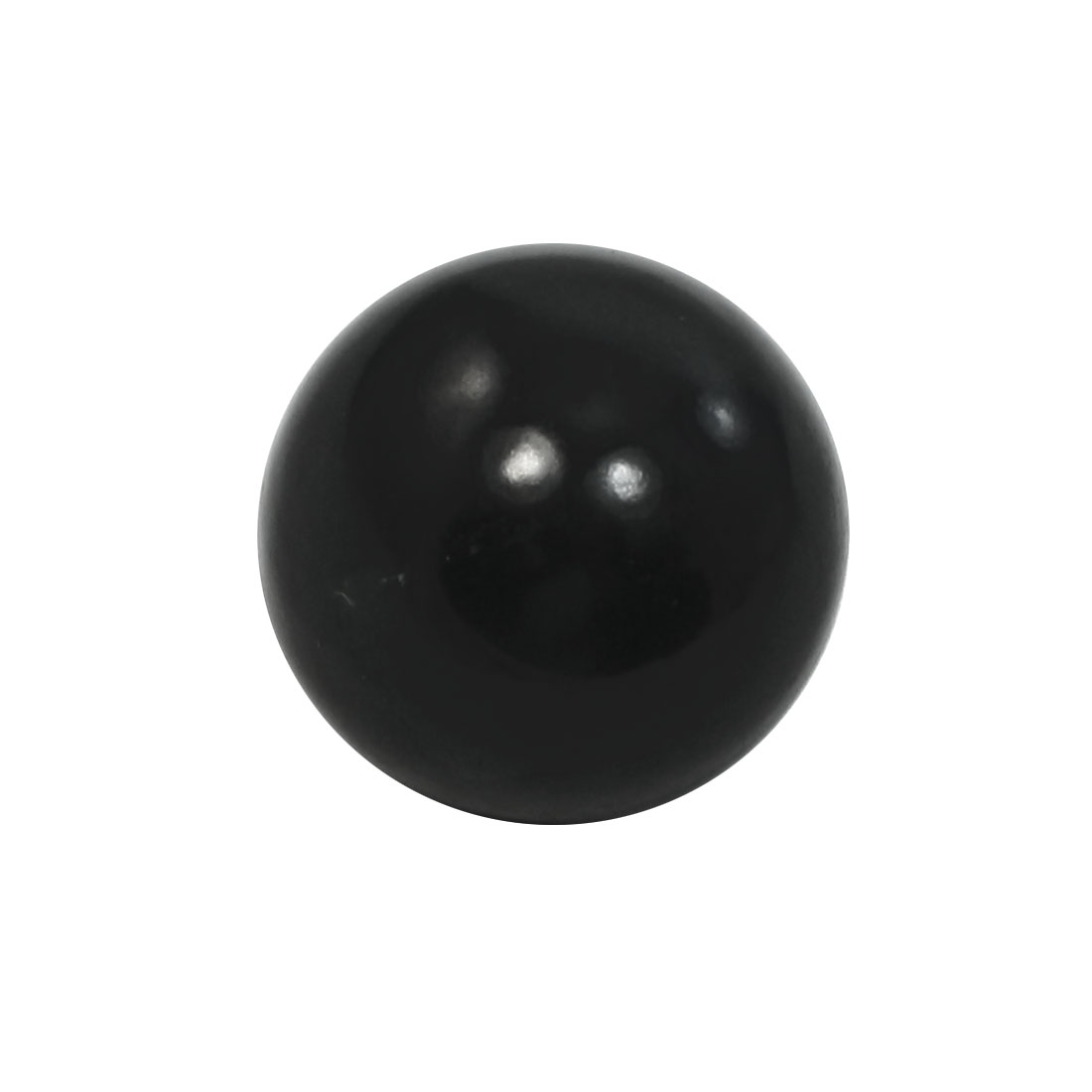 Black Threaded Ball Knob 40mm Dia 12mm Bore for Joystick Machine Handle