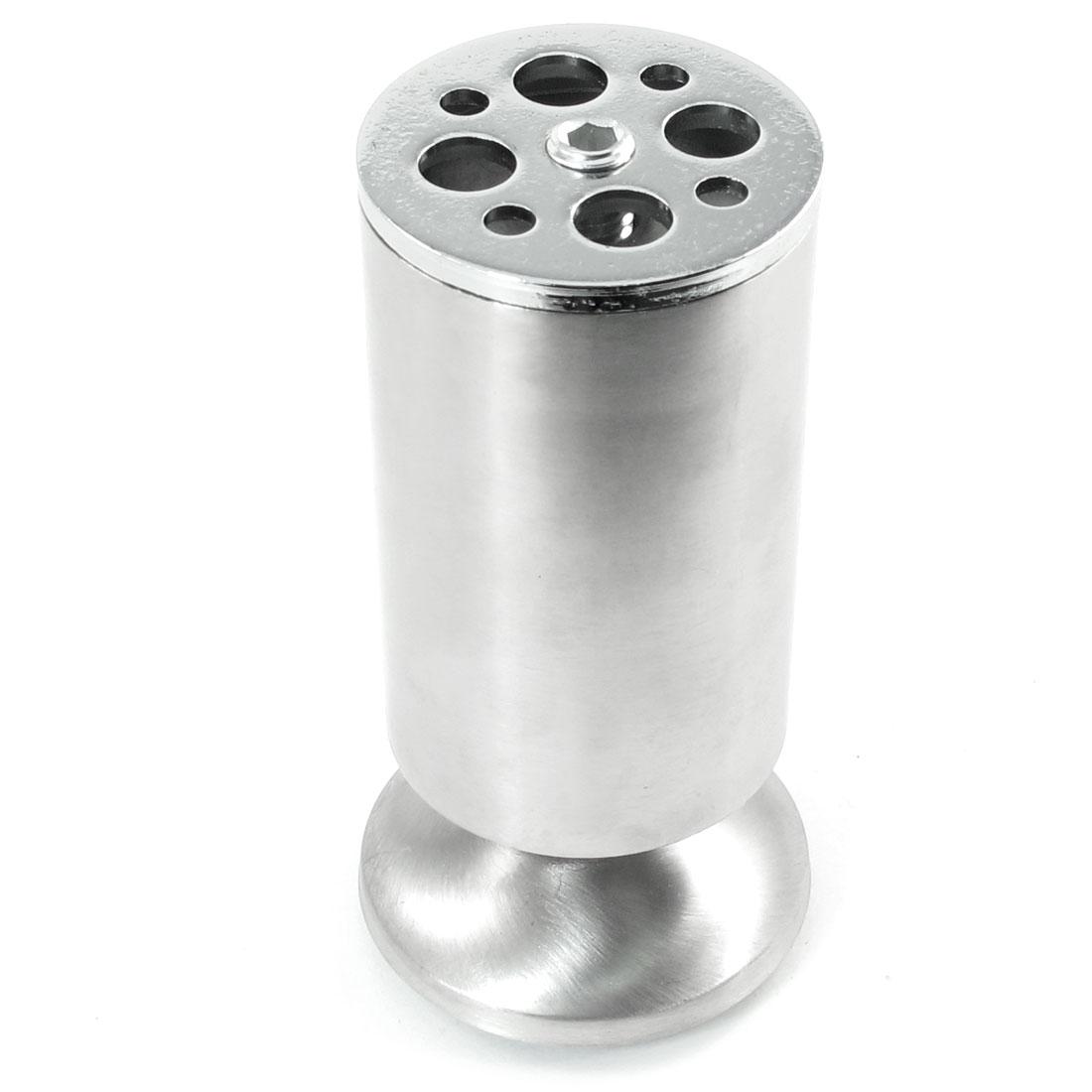 Multihole Silver Tone 11.7cm High Funnel Design Base Furniture Foot for Cabinet