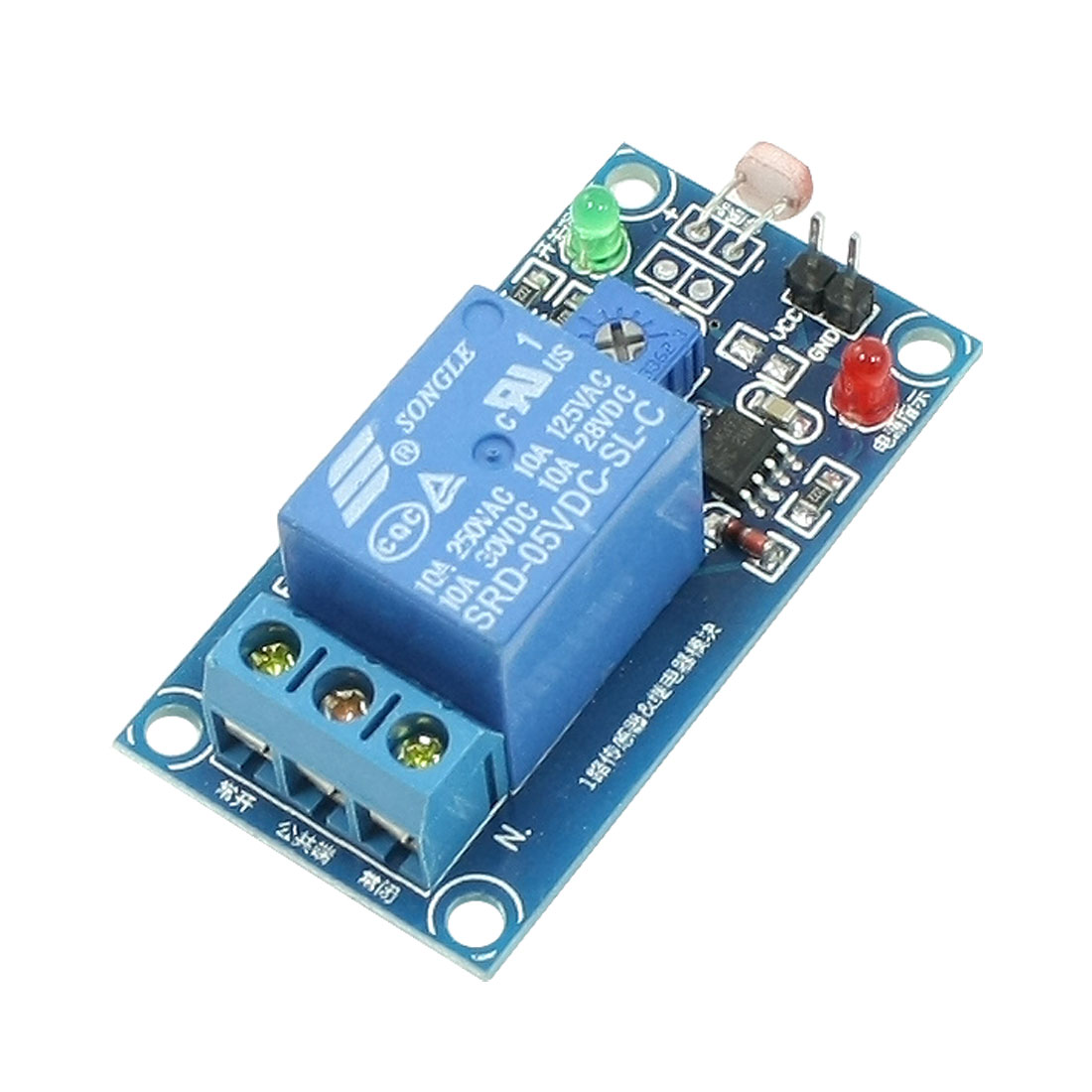 DC 5V Power Supply 1 Channel NO NC Photoresistor Controlled Relay Module