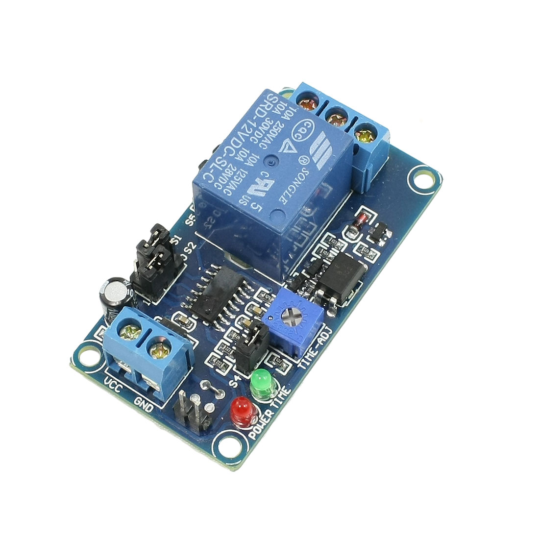 DC 12V Power Supply Adjustable Trigger Delay Time Relay Module