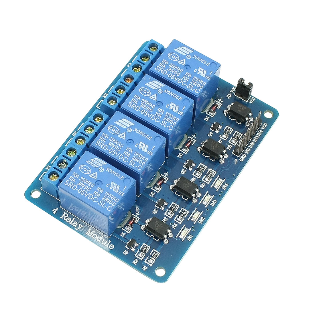 LED Indicator Light 5VDC 4 Channel Relay Module for AVR PIC TTL Logic