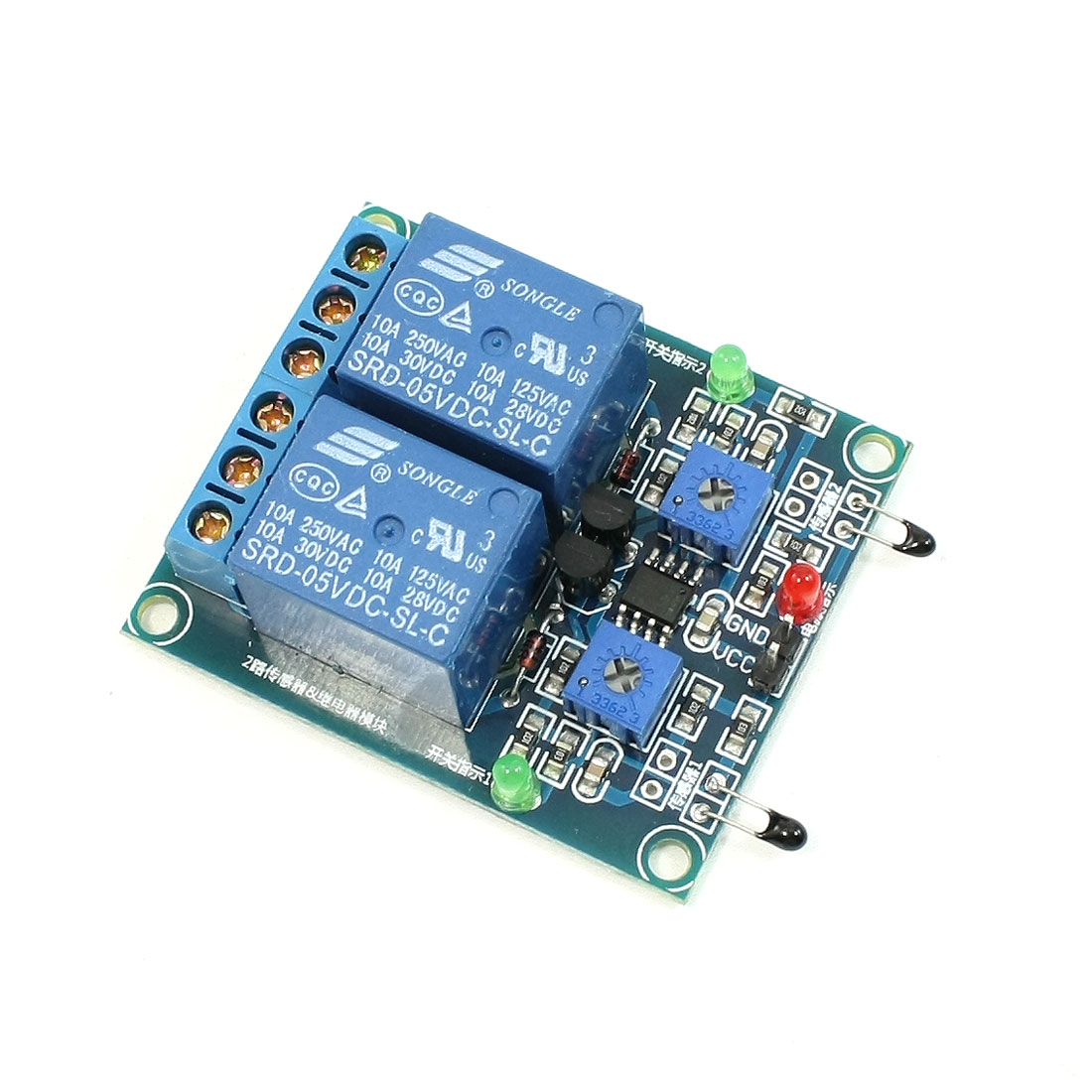 DC 5V 2 Channel Thermistor Control Relay Module for PLC TTL logic