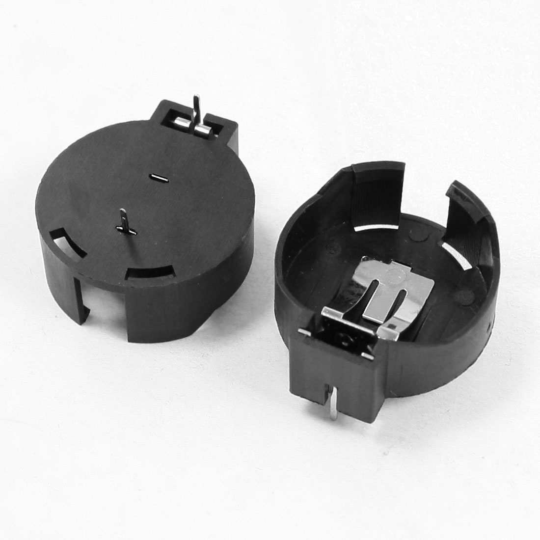 2 Pcs CR2477 Lithium Coin Cell Button Battery Holder Socket Black