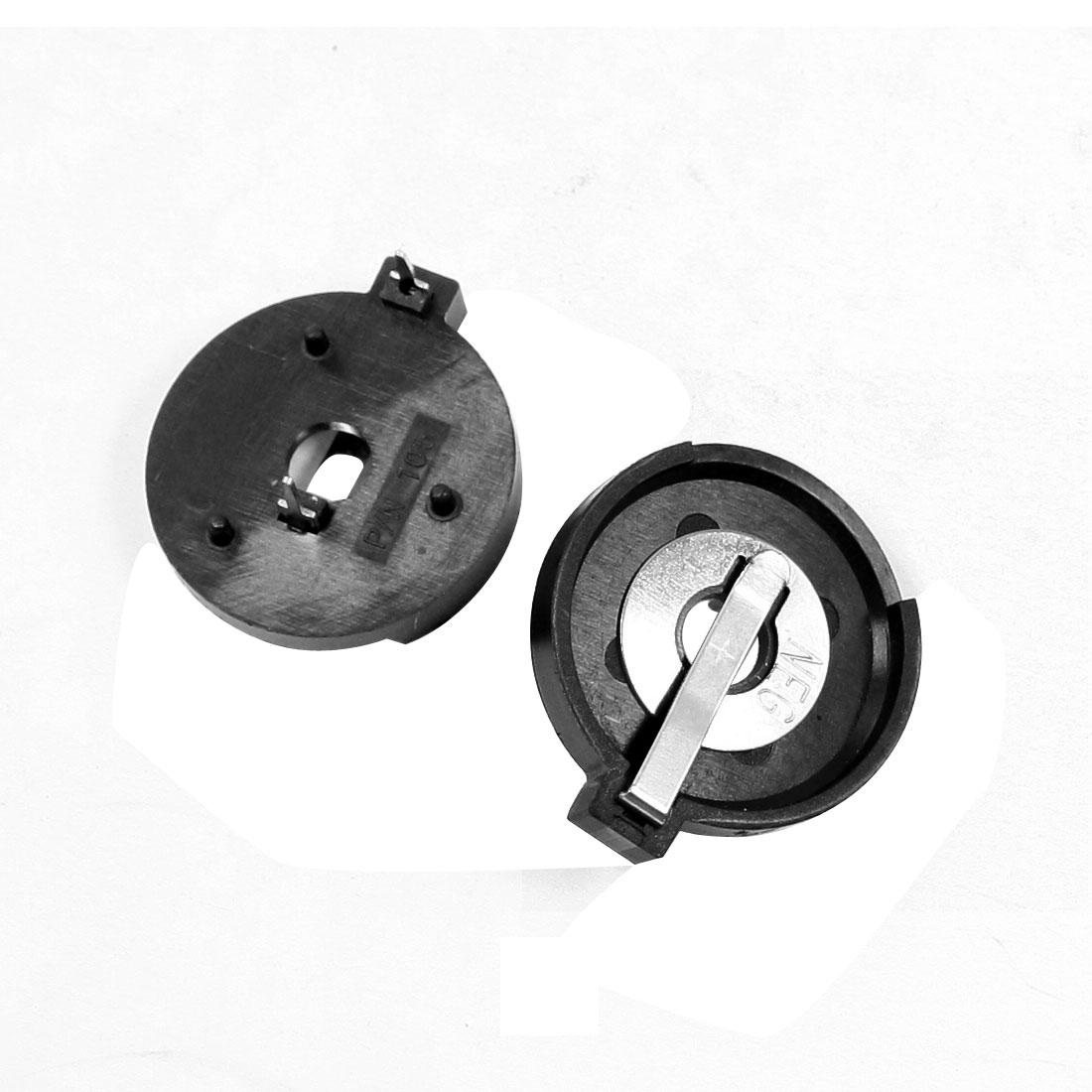 20mm Distance CR2430 LIR2430 Button Cell Battery Holder 2 Pieces