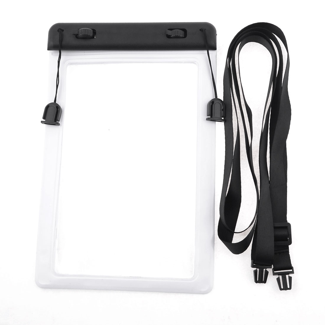 Adjustable Strap White Plastic Waterproof Pouch Bag Cover for Apple iPad Mini
