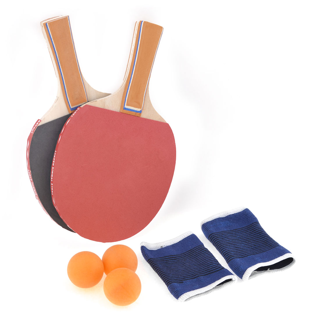 Orange Penhand Wood Grip Red Gray Rubber Ping Pong Table Tennis Sponge Paddle
