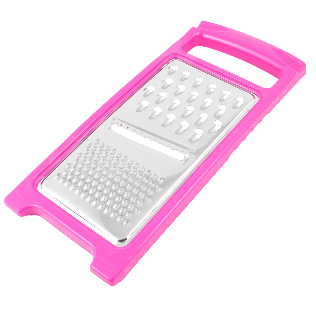 Fuchsia Plastic Frame Stainless Steel Vegetable Fruit Potato Graters Peeler