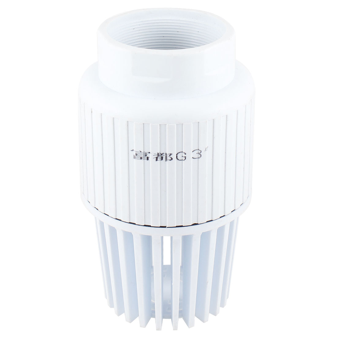 "Fluid Machinary Replacement 3.4"" Dia Internal Thread White PVC Foot Bottom Valve"