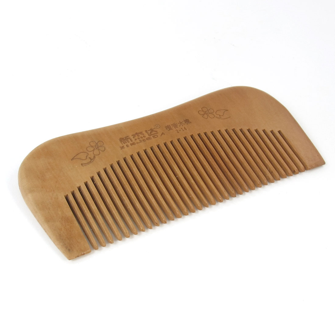 "Brown Rectangle Natural Wood Wooden Hair Care Comb 4.6"" Long"