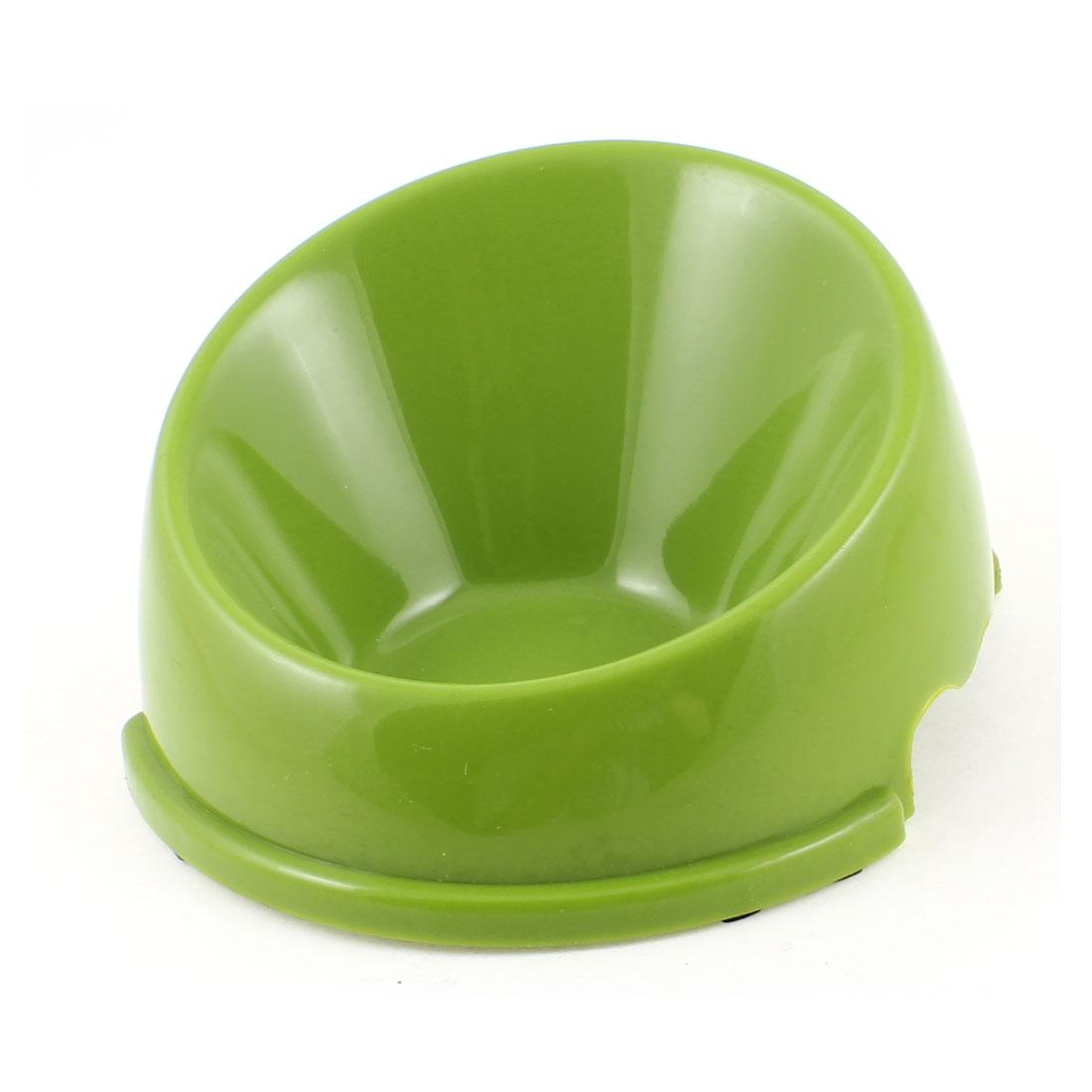 "Green Plastic Dog Cat Pet Slow Feed Bowl Feeder Dish 5.3"" Diameter"