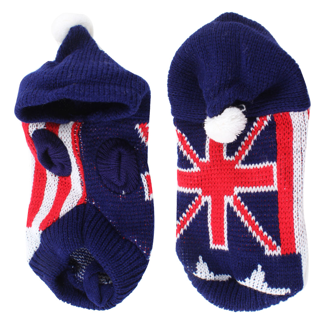 Turtleneck Knit England Flag Print Pet Dog Sweater Clothing Apparel Blue Red XS