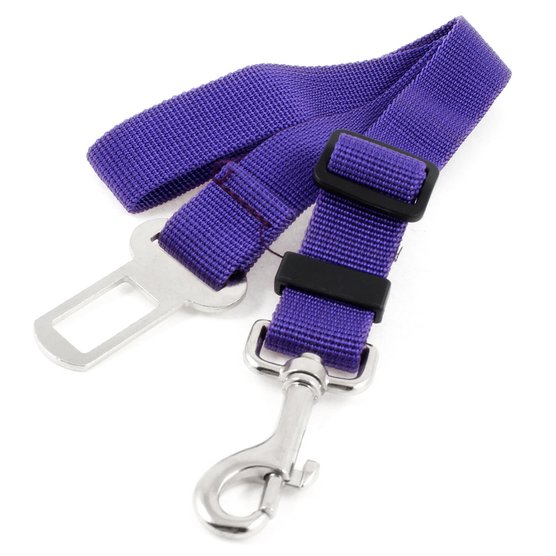 Car Vehicle Adjustable Band Cat Dog Pet Safty Seat Belt Purple
