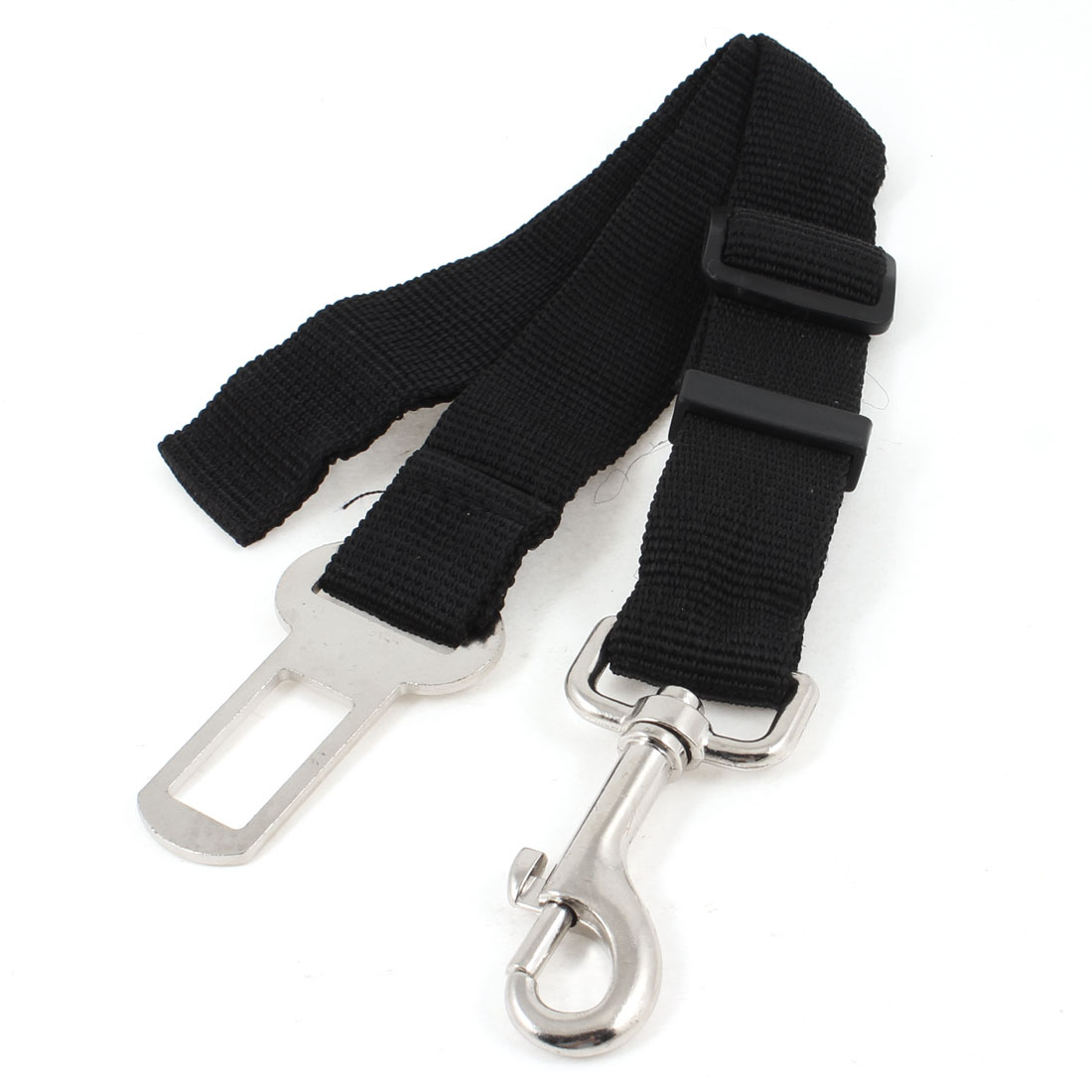 Car Vehicle Adjustable Band Cat Dog Pet Safty Seat Belt Black