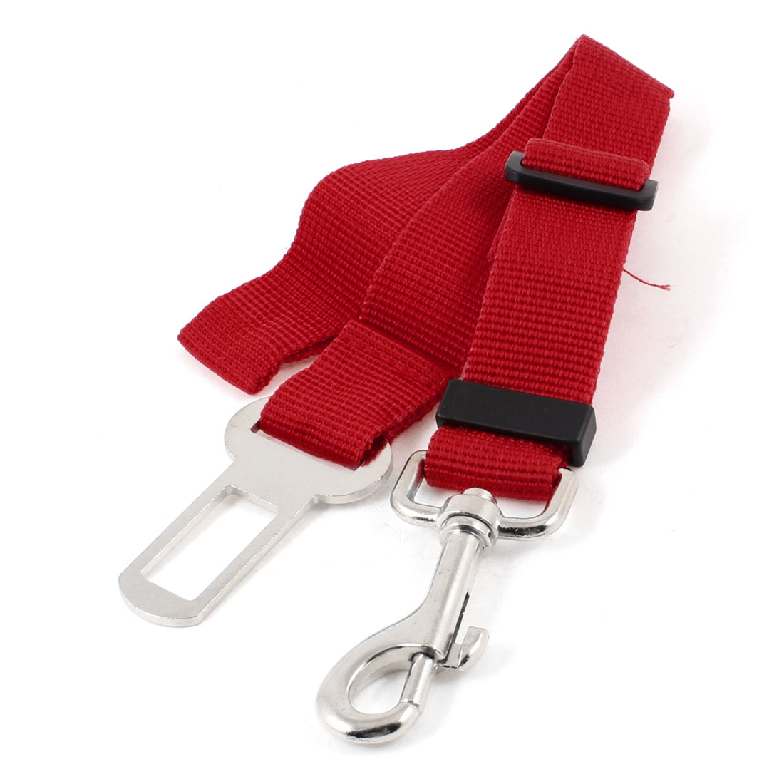 Nylon Adjustable Lobster Clasp Car Seat Dog Puppy Pet Safty Belt Red