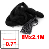 8M x 2.1M Orchard Garden Anti Bird Netting Nylon Knotted Mist Net Black
