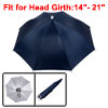 "28.7"" Dia Yale Blue Outdoor Sports Fishing Handsfree Umbrella Hat Headwear"
