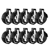 CR2016 2025 2032 Coin Cell Button Battery Holder Socket Black 10 Pcs