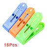 20 Pcs Family Plastic Clothes Pegs Clips Clamps Clothespins Multi Color