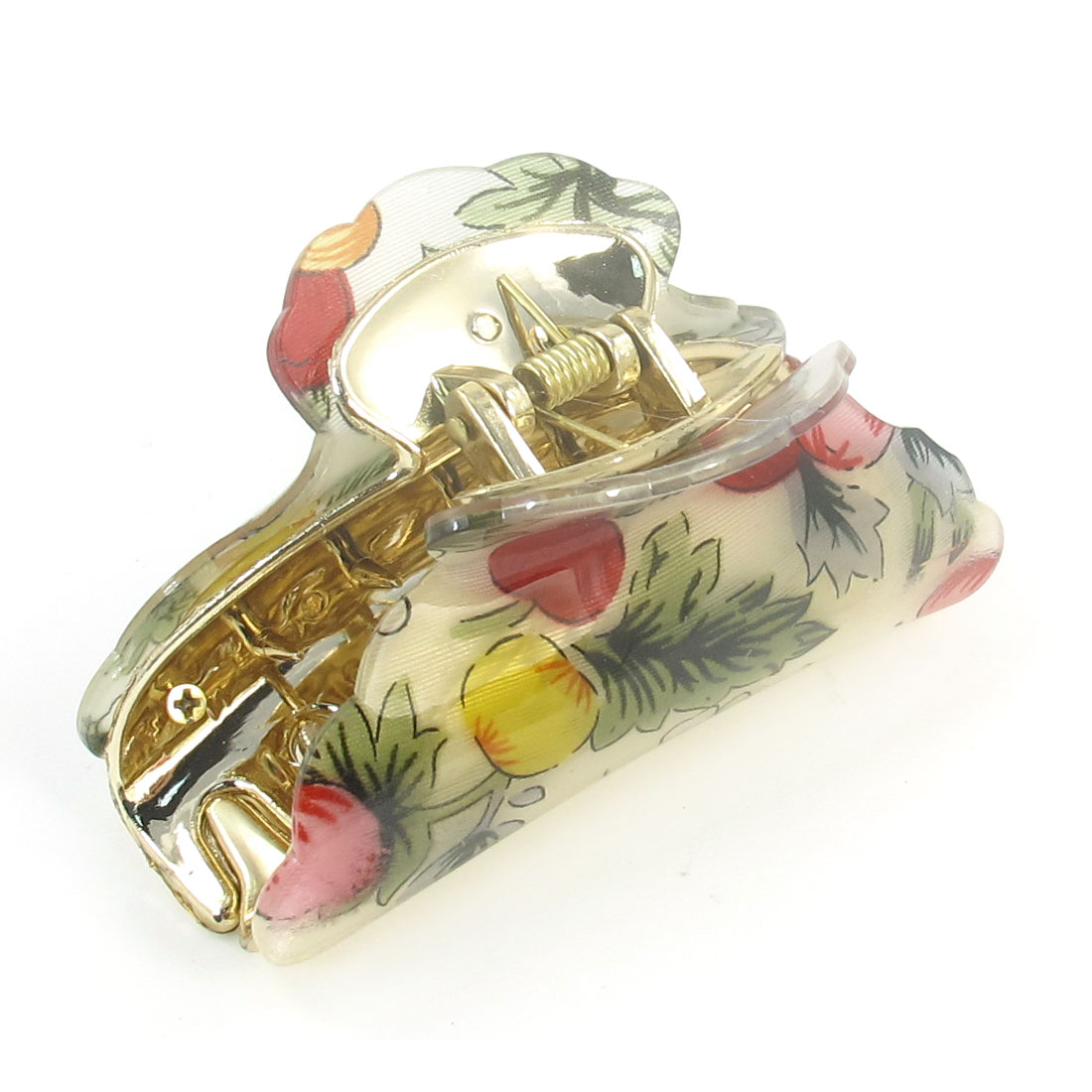 Colorful Leaf Fruit Pattern Plastic Teeth Hairclip Hair Clamp Claw for Lady