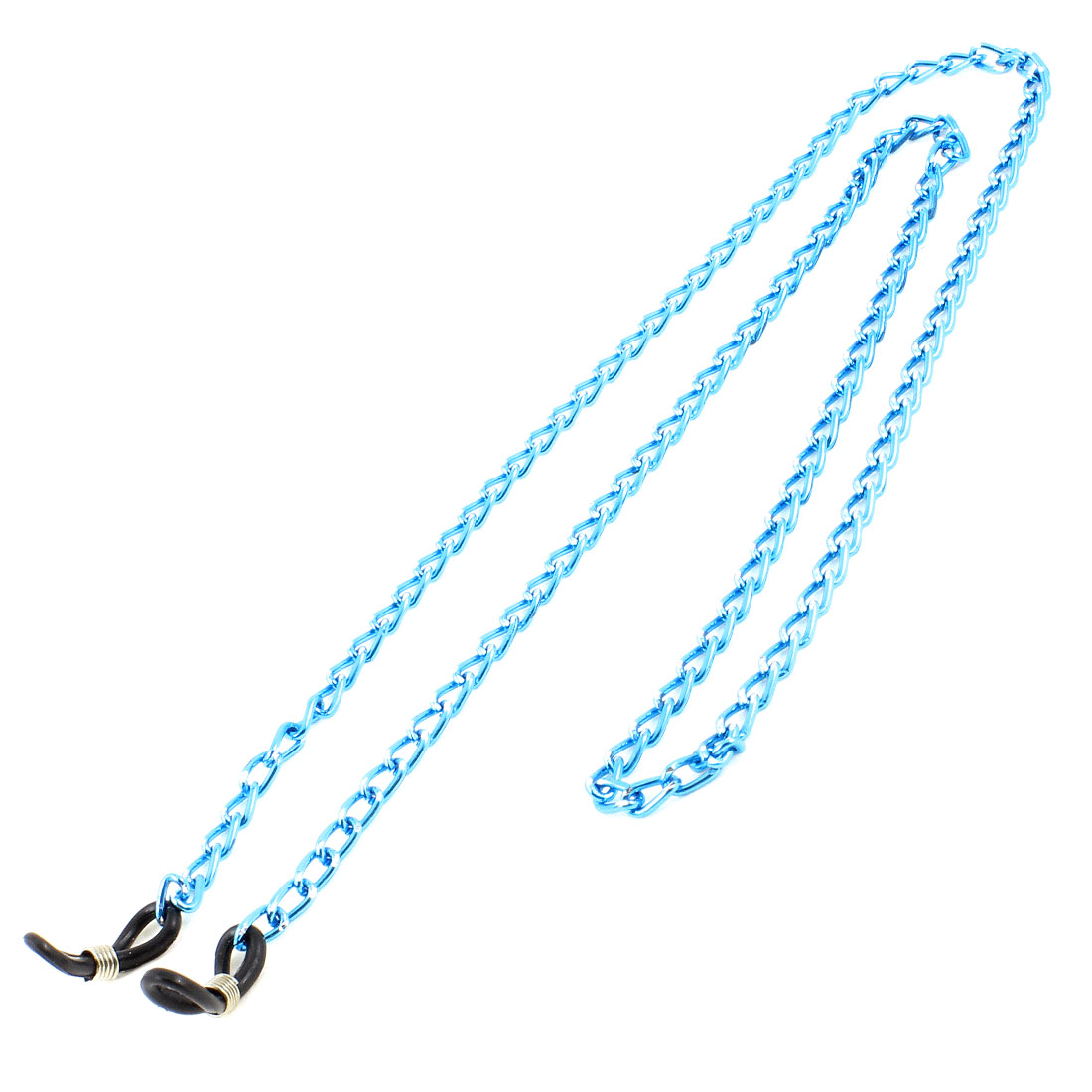 61CM Length Blue Metal Unisex Mini Cylinder Link Chain Eyeglasses Retainer