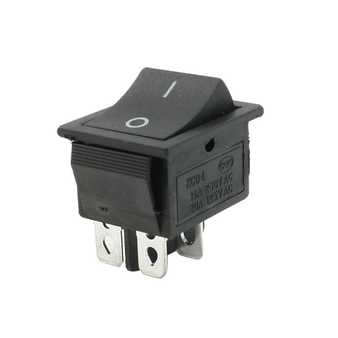 AC 250V 15A 125V 20A Black ON/OFF Snap In Boat Rocker Switch