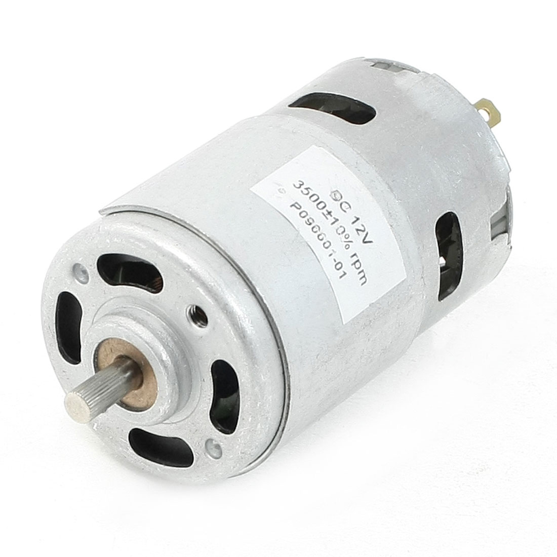 12V 0.5A 3500RPM 2 Terminals Connector Cylindrical Permanent Magnet DC Motor