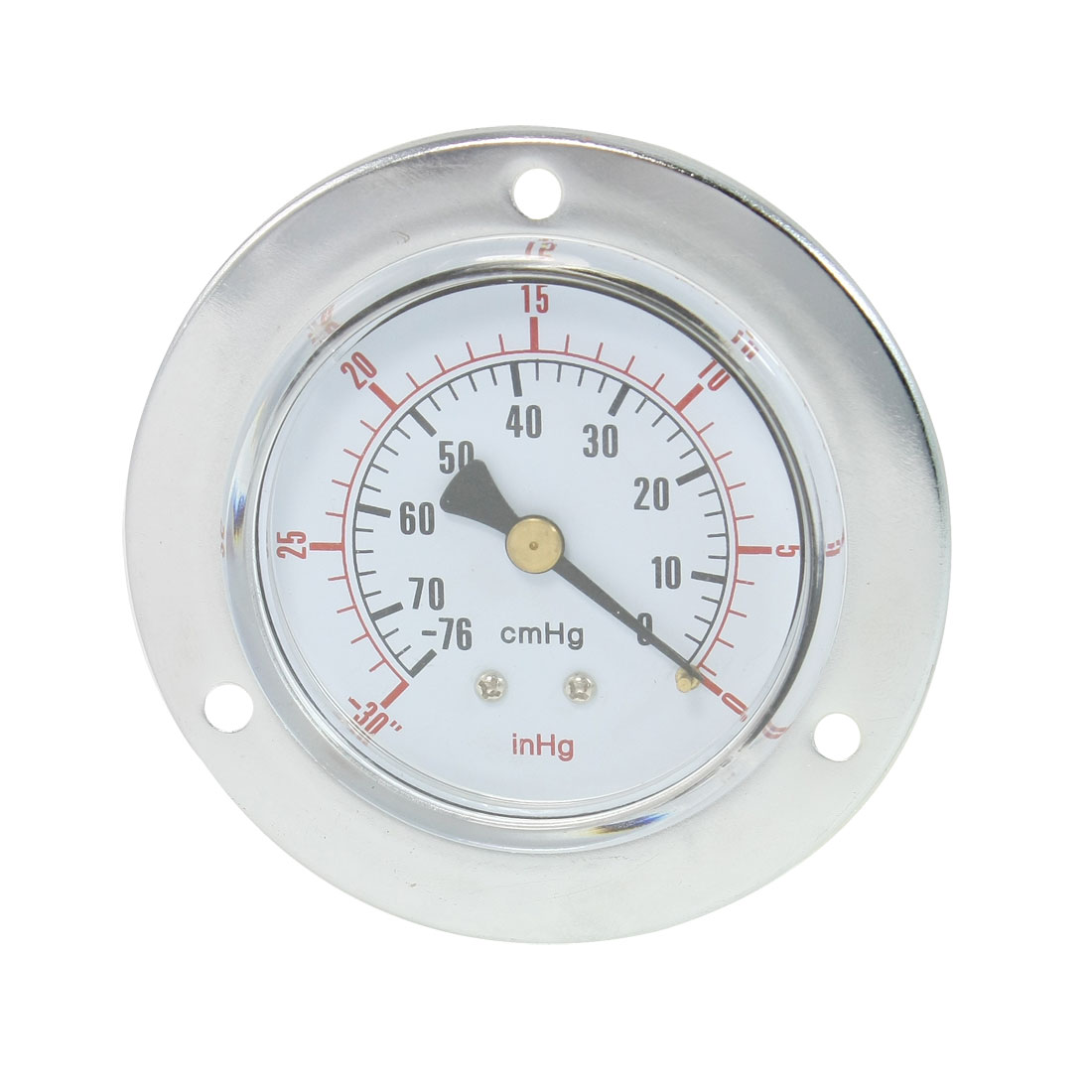 "Vertical Mount 1/4"" Water Air Pressure Vacuum Gauge -76-0 inHg"