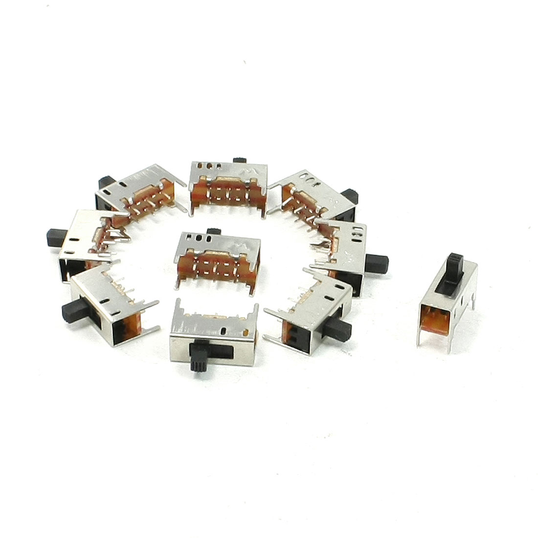 10pcs AC 50V 0.5A On/On 2 Position 2P2T DPDT Miniature Slide Switch SK22H03