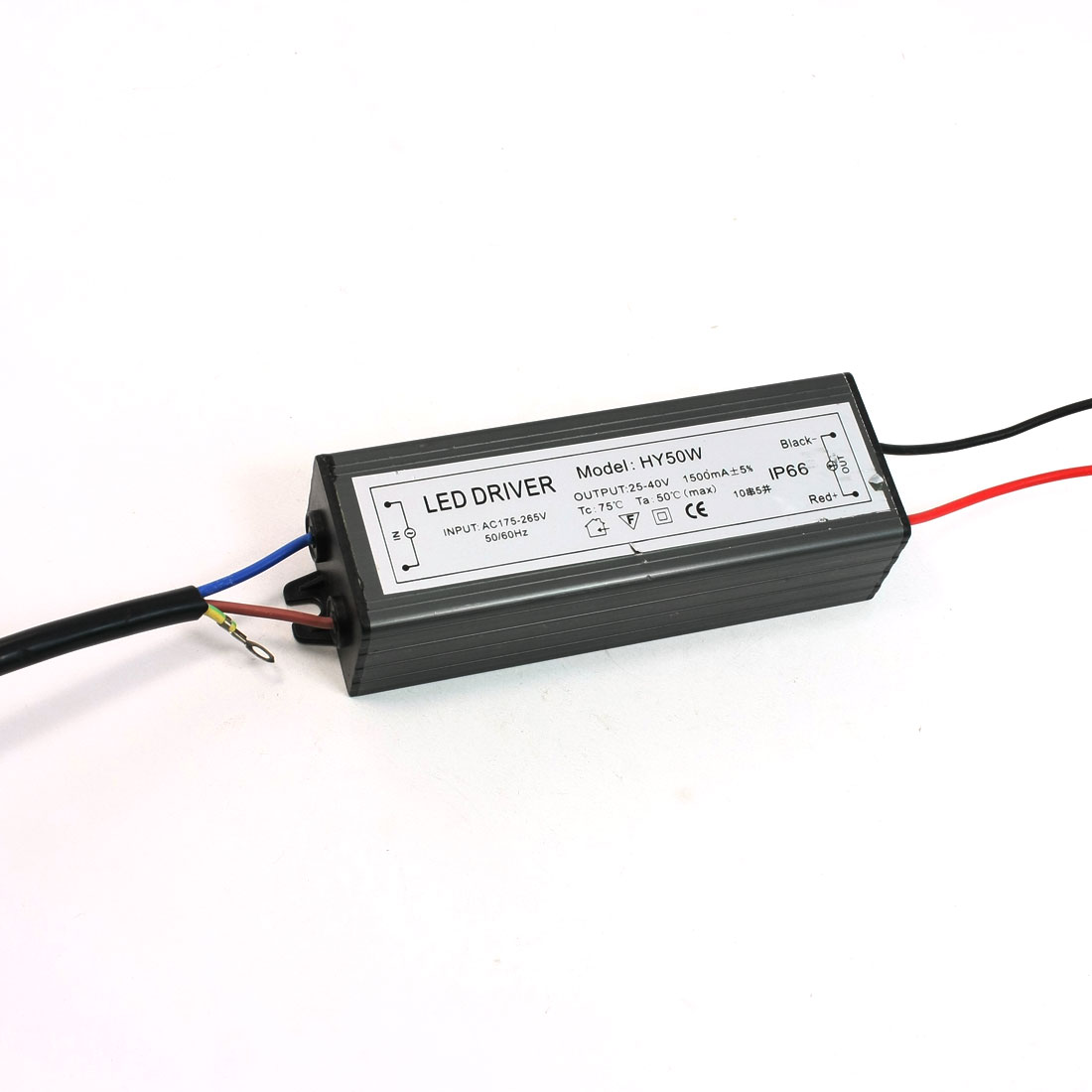 Waterproof Power Supply Driver for 50W LED 25-40V 1500mA AC 175V-265V