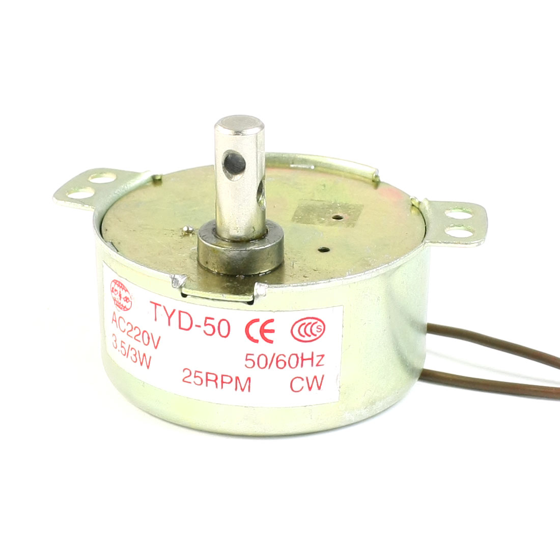 25RPM AC220V 3.5/3W 2 Wire Terminals Cylindrical Micro Motor