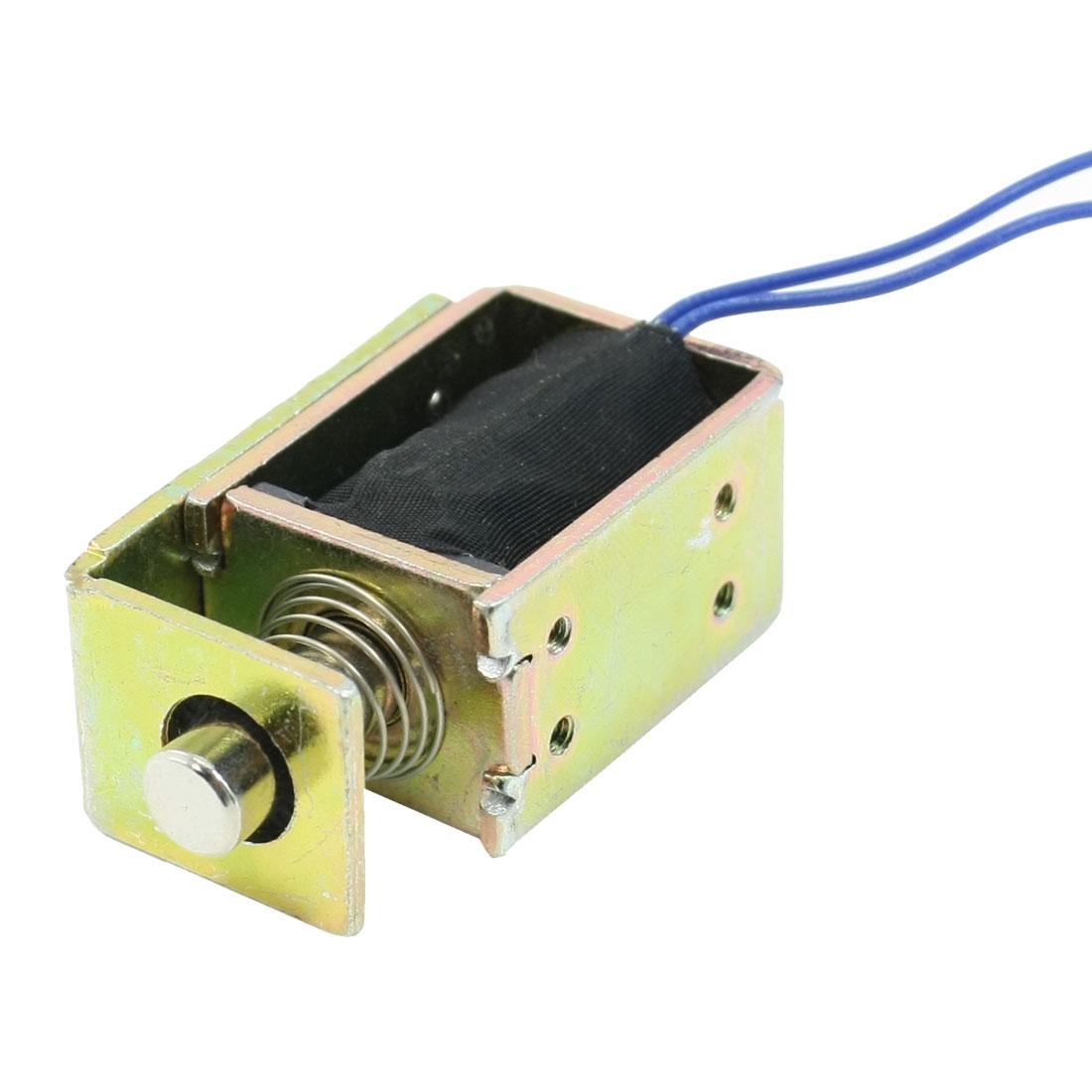 Linear Motion Open Frame Pull Type Electromagnet Solenoid DC 12V 0.5A 5mm 55N