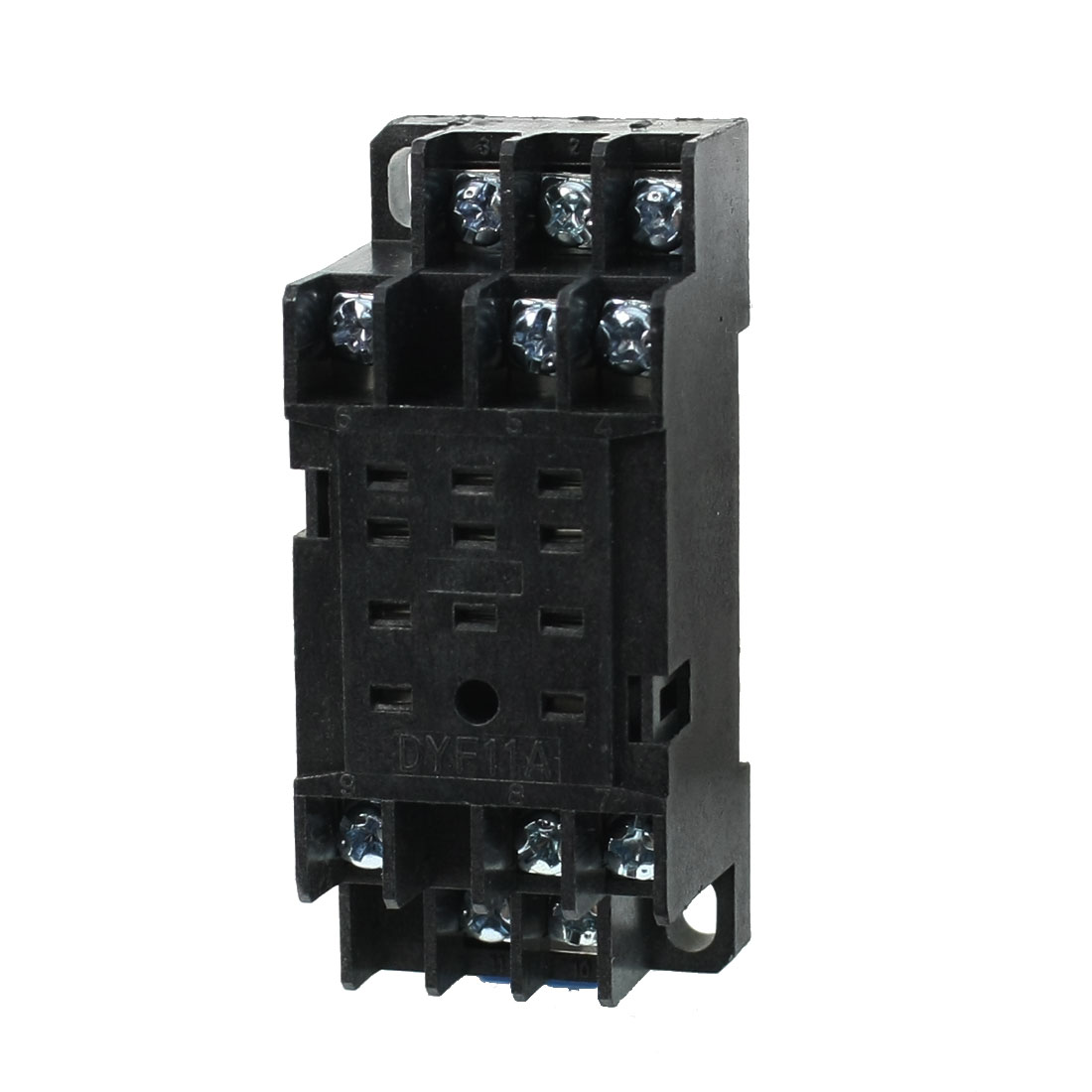 PYF11A Relay Socket Base DIN Track 8 Holes 8Pin for MY3NJ HH53P Relay