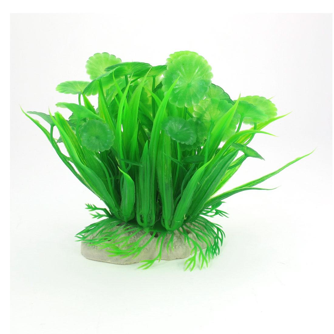 "3.9"" High Green Emulational Plastic Water Plant Grass for Fish Tank Aquarium"