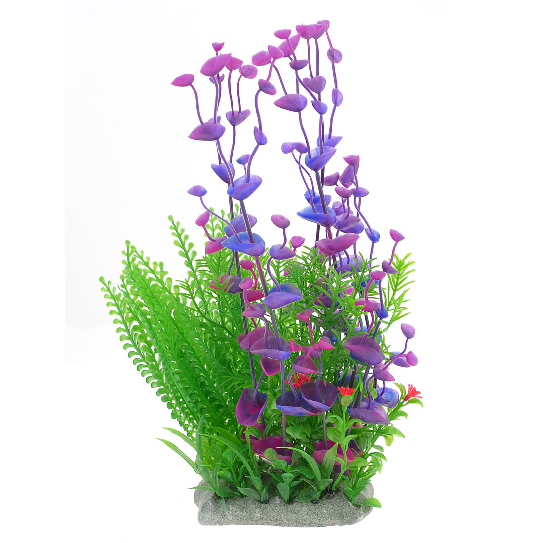 31cm Height Green Purple Blue Aquarium Simulation Aquatic Plant Ornament