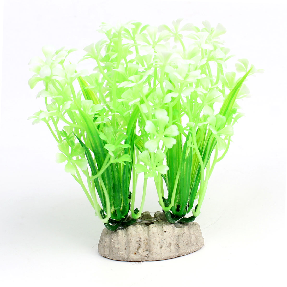 "Fish Tank Decor Aquascaping Plastic Light Green White Water Grass 5.2"" Height"